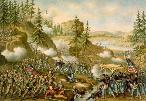 Battaglia di Chattanooga tra Nordisti e Sudisti