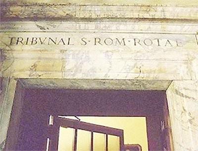 Ingresso al Tribunale della Sacra Romana Rota