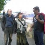 Londra: Lorenzo con gli amici Eraldo e Caterina
